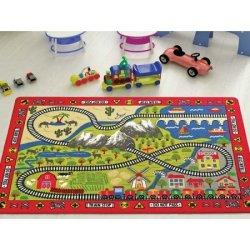 Детский коврик «Railway Red»