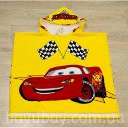 Полотенце пончо для детей «Cars»