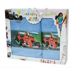 Набор махровых полотенец Formula1 blue