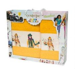 Набор махровых полотенец 3 girls yellow