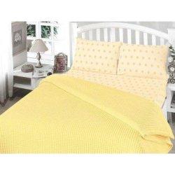 Постельное бельё пике «Perlay» жёлтое