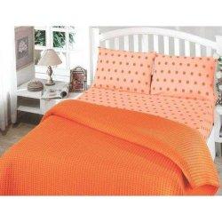 Постельное бельё пике «Perlay» оранжевое