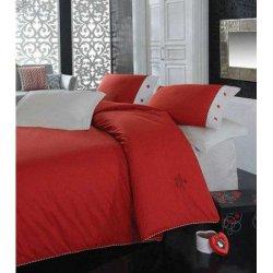 Комплект постельного белья Cotton Box ранфорс евро Plain Kirmizi
