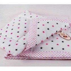 Ковдра дитяча «Рожевий зорепад» + подушка