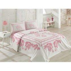 Пике постельное белье Cotton Box Shania Pembe