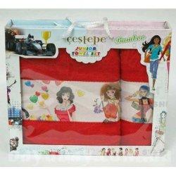 Набор махровых полотенец 3 Girls Red