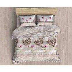 Фланелевое постельное белье First Choice евро Scarlet