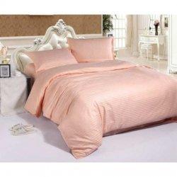 Постельное бельё Страйп розовый