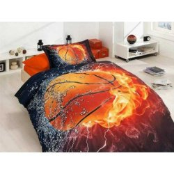 3D детское постельное бельё Basketball