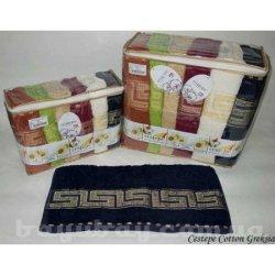 Набор махровых полотенец VIP Cotton Greksia