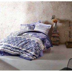 Постельное бельё Cotton Box евро Lucca Mavi ранфорс