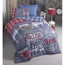 Подростковое постельное бельё Cotton Box Bluejeans Mavi