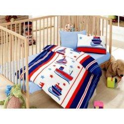 Детское постельное бельё в кроватку Cotton Box Denizci Mavi
