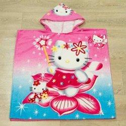 Полотенце пончо для детей «Kitty flower»