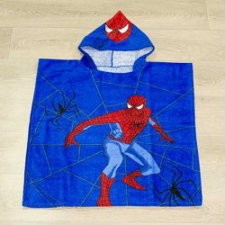 Детское пончо First Choice Spiderman Blue