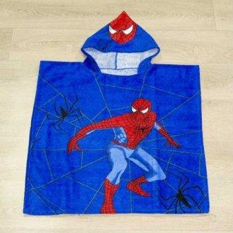 Детское пончо First Choice Spiderman Blue