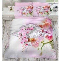 Евро комплект постельного белья «Orkide»