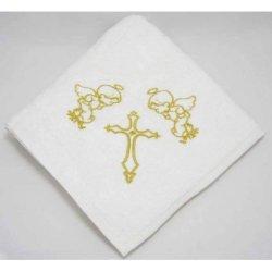 Крыжма для крещения с вышивкой золото