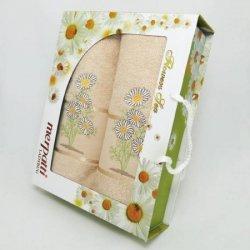 Подарочный набор махровых полотенец «Merpatti»