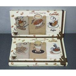 Набор вафельных полотенец «Кофе люкс»