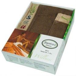 Набор для сауны мужской Gursan Bamboo Brown