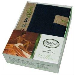 Набор для сауны мужской Gursan Bamboo Dark Blue