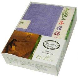 Набор для сауны женский Gursan Bamboo Violet