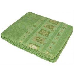 Простынь махровая «Ракушка» зелёная
