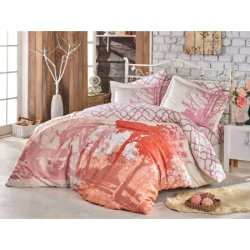 Постельное бельё евро Hobby Exclusive Sateen Alandra Розовое