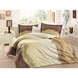 Постельное бельё Hobby Exclusive Sateen Filomena коричневое