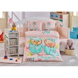 Детское постельное Lovely персиковое