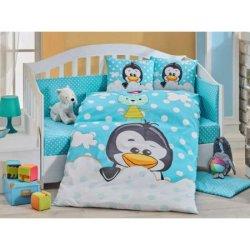 Детское постельное Penguin голубое