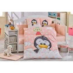 Детское постельное Penguin персиковое
