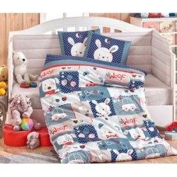 Детское постельное Snoopy синее