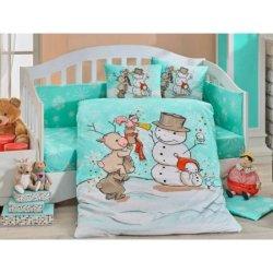 Детское постельное Snowball мятное