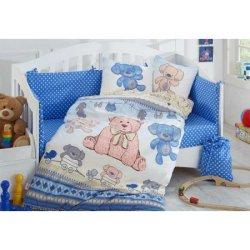 Детское постельное Tombik голубой