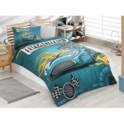 Детское постельное бельё Racing бирюзовый