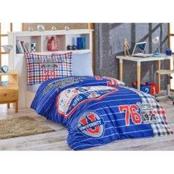 Детское постельное бельё College синий