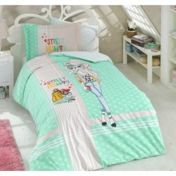 Детское постельное бельё Street Fashion мятное