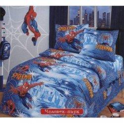 Полуторное постельное белье «Человек паук»