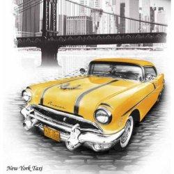Евро комплект постельного белья «New York Taxi»
