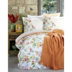 Элитное постельное белье евро Karaca Home + пике Paradise Oranj
