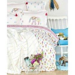 Элитное постельное белье Karaca Home Nora + пике