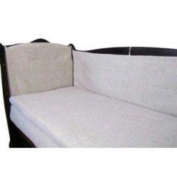 Льняная защита на детскую кроватку