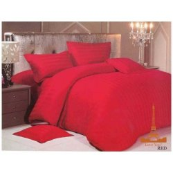 Постельное бельё Сатин-страйп Красный