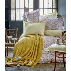 Элитное постельное бельё Karaca Home + плед Freya Yesil