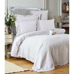 Элитное постельное бельё Karaca Home + покрывало Liza Lila