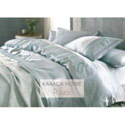 Элитное постельное бельё Karaca Home + пике Tugce Su Yesil