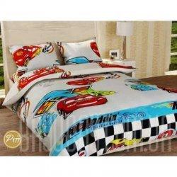 Детское постельное белье «Гонки»