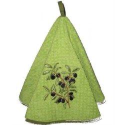Полотенце кухонное Exclusive round green